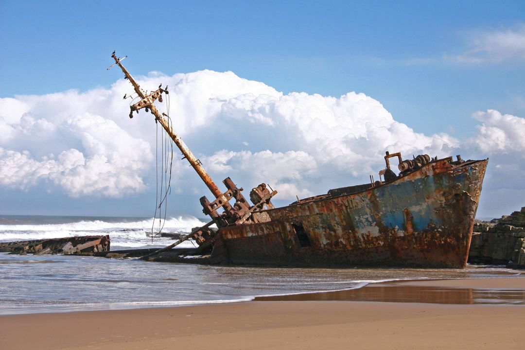 Shipwreck on a rising tide.